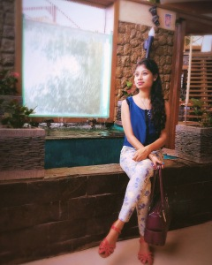 blue shirt with printed pant - daintystreet