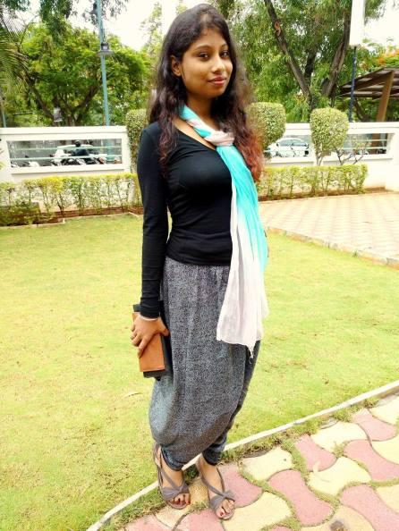 dhoti pants and tee