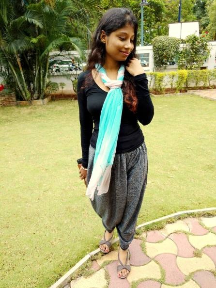 dhoti pant with scarf
