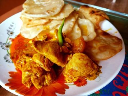 Luchi kosha mangsho Bengali dish