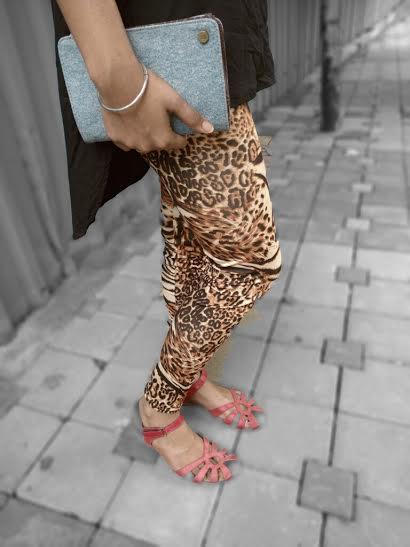 cheetah printed leggings