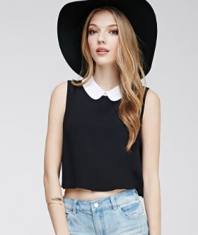 crop top with peter pan collars