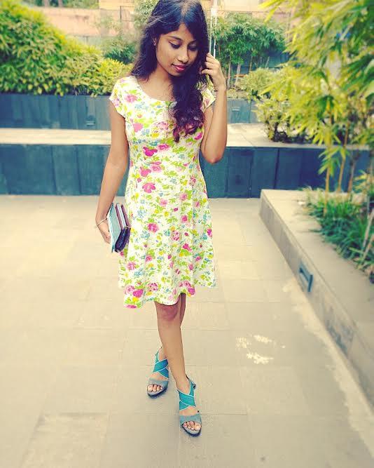 floral printed dress for sunday brunch
