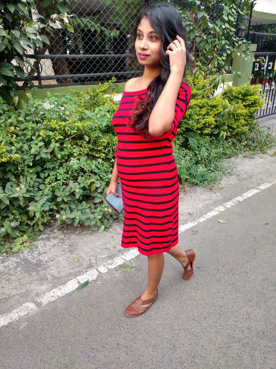 off shoulder dress for thin girls